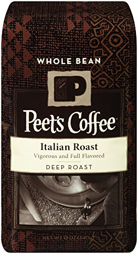 Peet's Whole Bean Coffee, Italian Roast, Dark Roast, 12-Ounce bag
