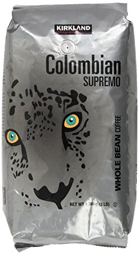 Kirkland Signature Colombian Supremo Whole Bean Coffee, 3 Pound