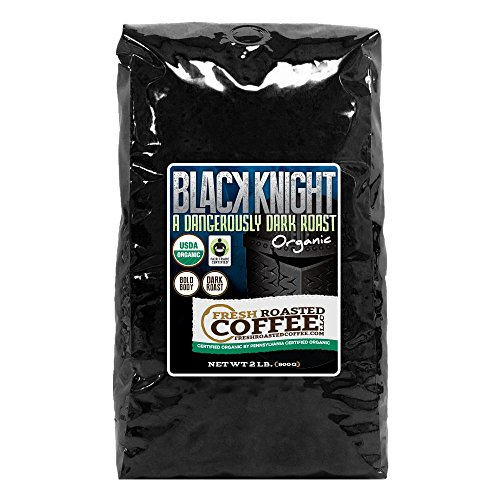 Black Knight Dark Roast FTO, Whole bean coffee, Fresh Roasted Coffee LLC. (2 lb.)