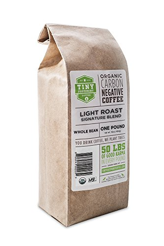 Tiny Footprint Coffee Organic Light Roast Whole Bean Coffee, 16-Ounce Bags (Pack of 2)