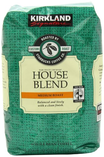 Signature's Kirkland Starbucks Bean Coffee, Medium Roast House Blend, 32 Ounce