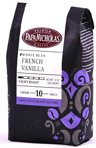 PapaNicholas Coffee Whole Bean Coffee, French Vanilla, 10 Ounce