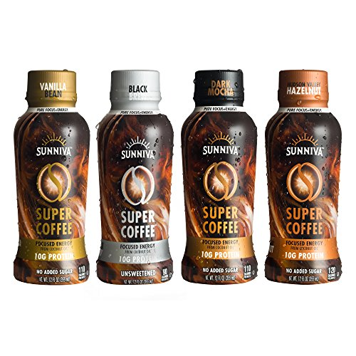 Sunniva Super Coffee Variety Pack, Pack Of 4