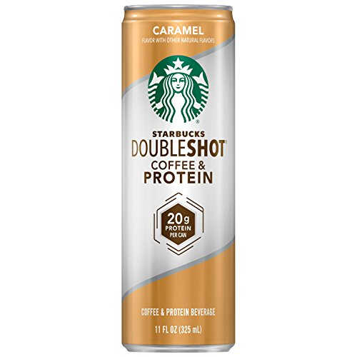 Starbucks Doubleshot, Coffee and Protein, Caramel, 11 Ounce Cans, 12 Count