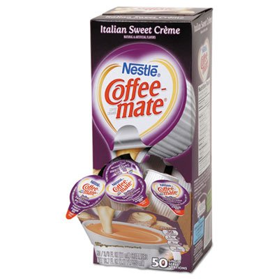 Coffee-mate 84652 Liquid Coffee Creamer, Italian Sweet Creme, 0.375 oz Cups, Box of 50
