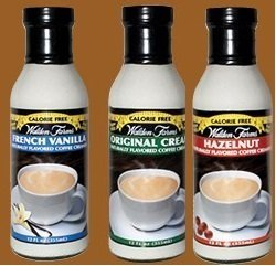 Walden Farms Flavored Coffee Creamer Hazelnut, Original, and French Vanilla (Pack of 3)
