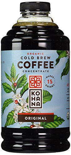 Kohana Coffee Cold Brew Coffee Concentrate, Organic Original, 32 Ounce