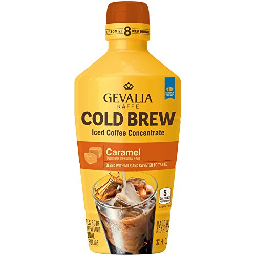 Gevalia Cold Brew Caramel Iced Coffee Concentrate, 32 oz
