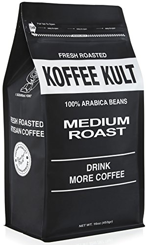 Koffee Kult Coffee Beans Medium Roasted - (1 Lb Ground Coffee)