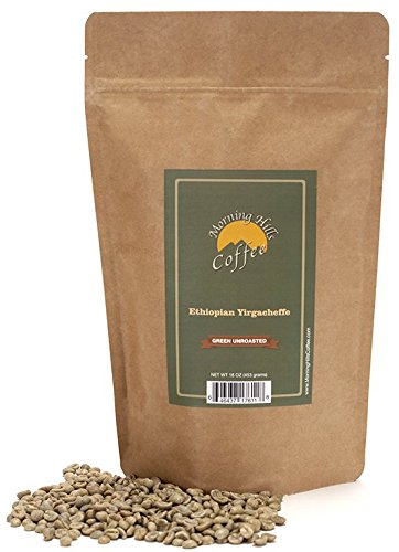 Ethiopian Yirgacheffe Green Unroasted Coffee Beans 1 Pound
