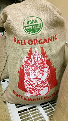Bali Kintamani Natural, Organic Rain Forest Alliance, Whole Bean Coffee (Unroasted Green Beans, 5 Pounds Whole Beans)